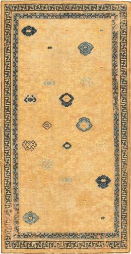 Antique 17th century Ningsia Oriental Rug #3285