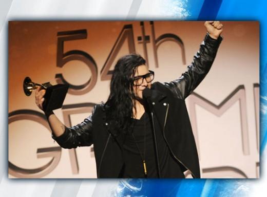 Skrillex winning a Grammy Award