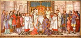 Marriage of Maelcolm to his second wife Margarethe in AD1070 - Eadgar 'the aetheling' was his young brother-in-law