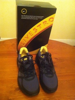The new shoes - 'Livestrong'