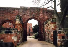 Norman gateway to Shrewsbury Castle - the similarities to Durham and Lincoln are marked by the hilly location