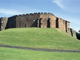 Chester Castle, showing Hugh's eye for a defensive position (the moat is no longer extant)