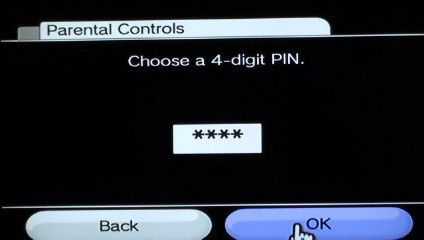 The PIN code is four digits.