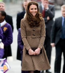 Kate wears a wool jacquard dress from Orla Kiely