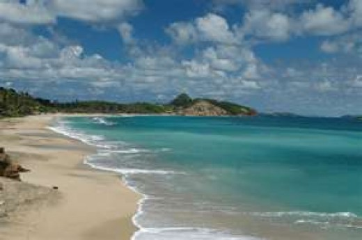 Grand Anse Bay on Grenada, one of the author's favorite locations in the Caribbean.