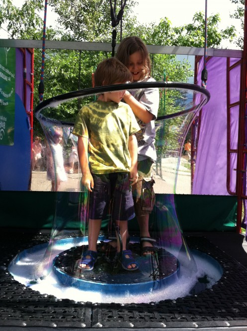 Exploring science in a bubble at the EcoTarium