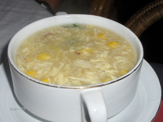 Chinese Sizzling Rice Soup with Chicken and Shrimp