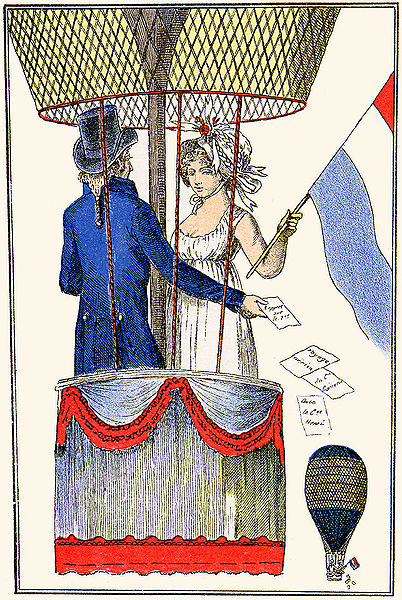 1798-balloon-henri- An illustration of ballooning, from the Journal des Dames et des Modes, 1797-1798.