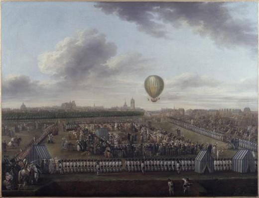 La 14éme expérience aérostatique de Monsieur Blanchard accompagné du Chevalier Lépinard, Lille, 26 août 1785