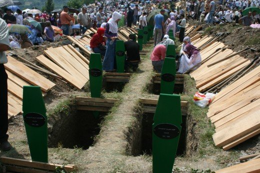 Grave site for Bosnian Genocide Victims