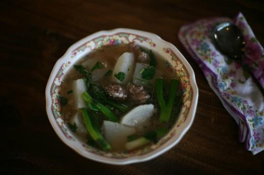 Yummy daikon soup