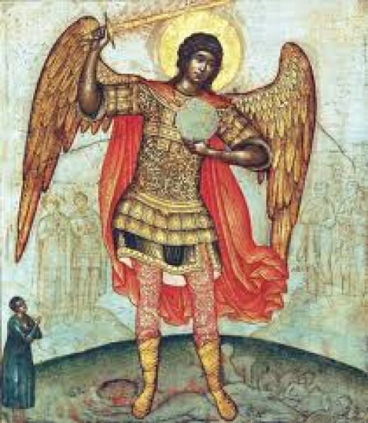 Archangel St Michael, commander of the armies of angels in Heaven