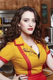 "KAT DENNINGS AS ""MAX"" ON CBS' ""TWO BROKE GIRLS,"" COULD ACTUALLY DROP A PLATE OF FOOD ON SOME POOR DINER'S HEAD."