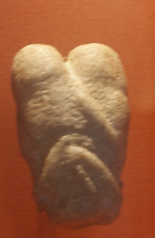 Ain Sakhrir a calcite sculture of two people making love, 11,000 -10,000 years old Judeia
