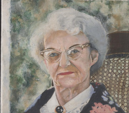"Granny, acrylic 10x10"""