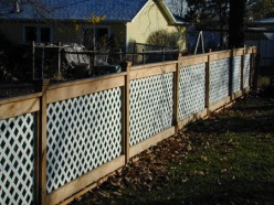 How to Install a Lattice Privacy Screen - Method 4 Using Frames