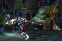 Tactics to Defeat Malwyn: what not to do, allowing Malwyn to hit the hero and not being able to defeat Malwyn in one series of attacks. Note: Malwyn's pet Balor on the right.