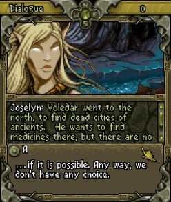 Joselyn: she could see invisible and predict the future which made her indispensable in battle.  Now, she can also speak with the spirits of the dead.