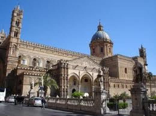 Palermo Cathedral, built by Norman king Roger II of Sicily, last resting place of Odo, Bishop of Bayeux