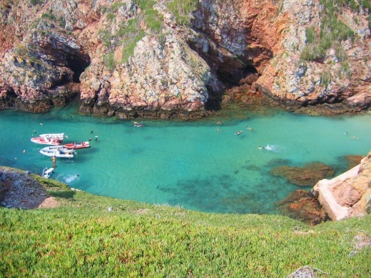 The famous jade waters of Berlenga. Used with permission from blog moderator.