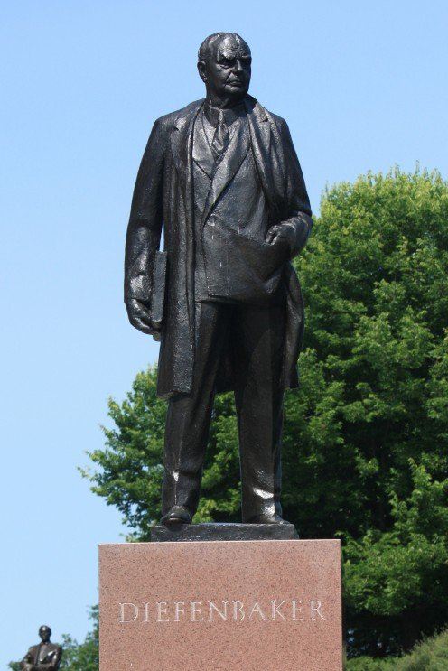 Statue of John G. Diefenbaker on Parliament Hill, Ottawa