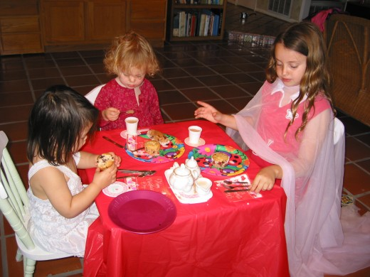 Tea Party.  Siblings of different ages can enjoy some of the same activities.