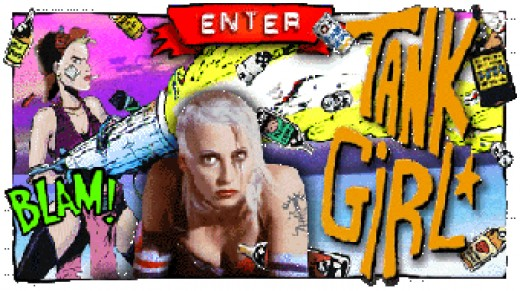 Lori Petty playing Tank Girl from the comic strip