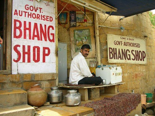 A Shop Selling Bhang In Rajasthan