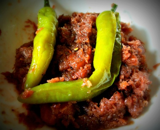 bagoong and chili