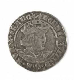 Hammered silver groat of Henry VIII                     1526 -1544