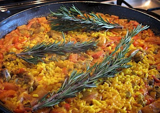 rabbit paella