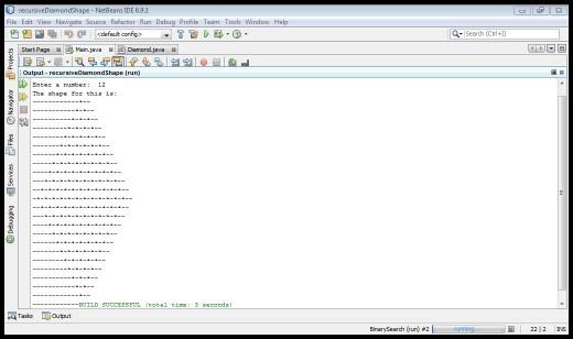Program's output full body snapshot