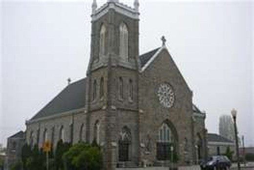 Where the author served as altar boy!