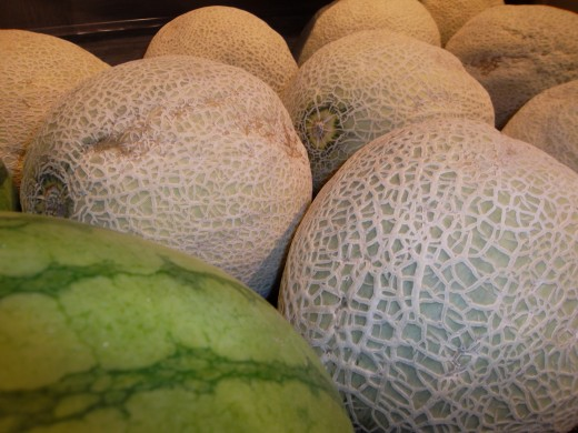 It's important to clean melons since listeria can be transferred from the rind to the fruit when it is sliced with a knife.