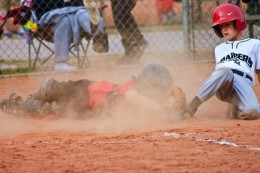 Baseball and dirt just go together!