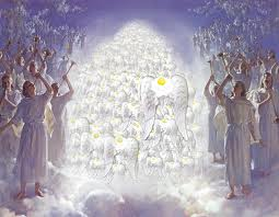 The angels of heaven singing glory