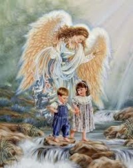 Guardian angels looking after children