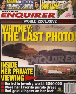 Whitney Houston open casket picture