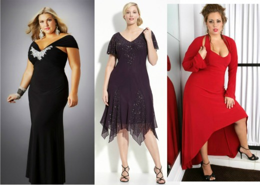 evening dresses for wide hips