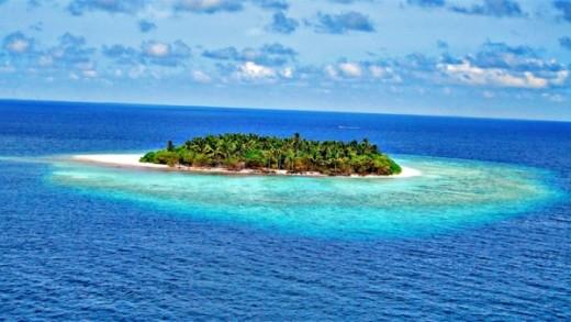 An amazing uninhabited island.