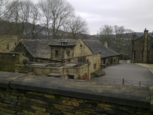 A peek over the old courtyard and stables