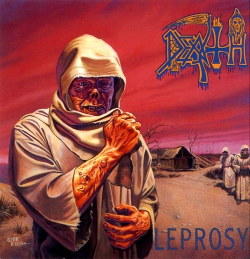 """The colorful album artwork for """"Leprosy""""."""