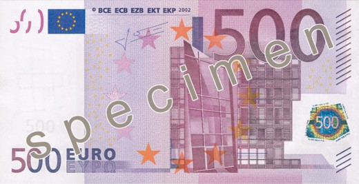 the €500 euro note