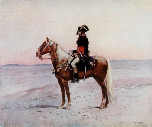 A portrait of Napoleon Bonaparte in Egypt.