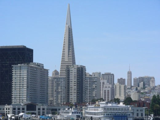 The Transamerica Pyramid building achieved a great milestone in construction and lines the San Francisco skyline with a unique site.