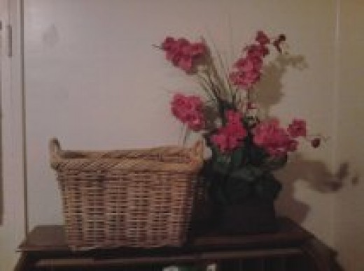 The basket my Mom gave me