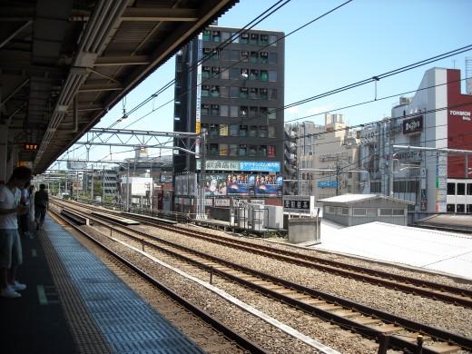 View from Takadanobaba platform.