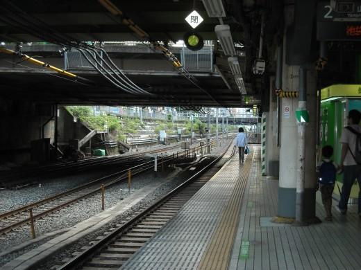 View from Sugamo platform.