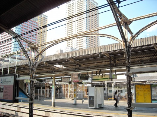View from Nippori platform.