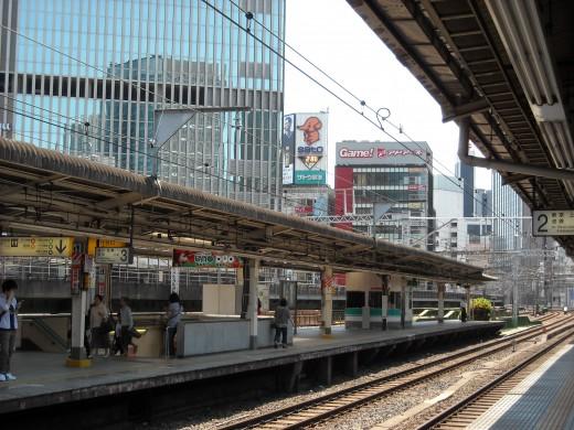 View from Yuurakuchou platform.